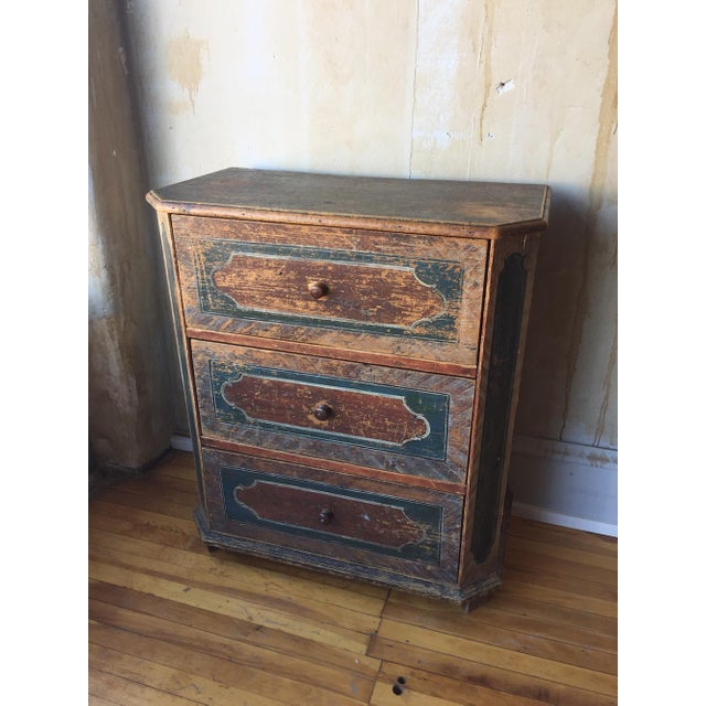 Italian Small Arte Povera Chest of Drawers For Sale - Image 3 of 11