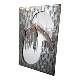 Vintage Brutalist Mirror Wall Art For Sale