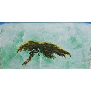 """Robert Marchessault """"Emerood"""" Contemporary Abstract Tree Mixed Media Painting For Sale"""