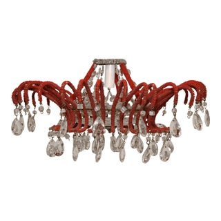 Italian Beaded Chandelier For Sale