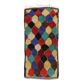 Vintage Berber Moroccan Rug with Modern Geo Prism Design