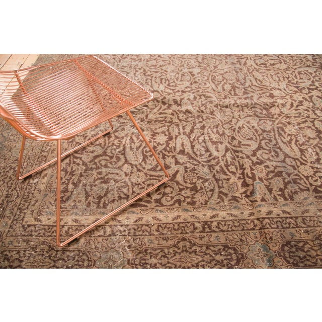 """Islamic Distressed Vintage Oushak Carpet - 8'8"""" x 11'8"""" For Sale - Image 3 of 7"""