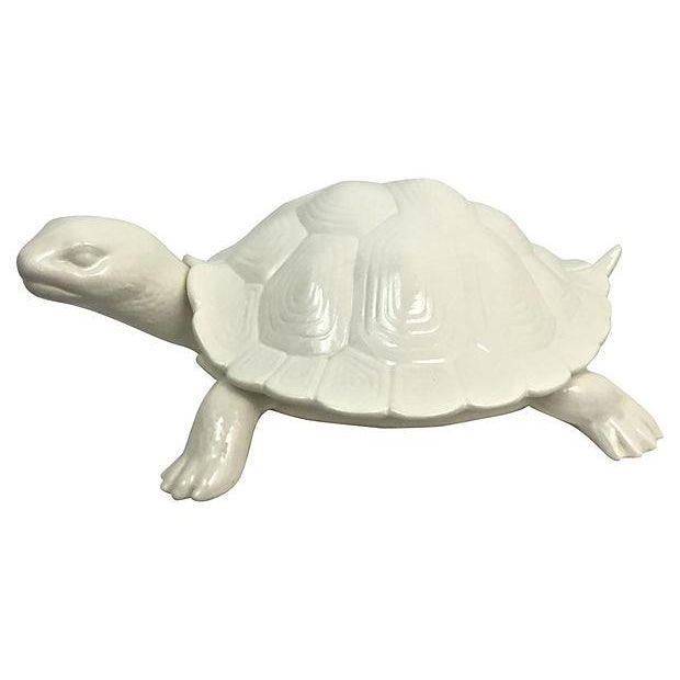 Hand-Cast Ceramic Turtle Bowl With Shell Lid - Image 2 of 9