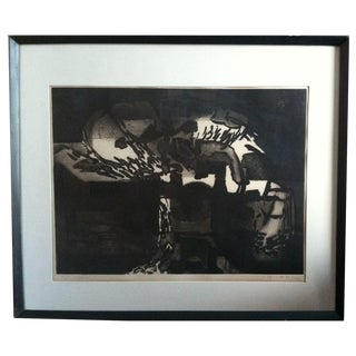 1960s Modernist Abstract Print For Sale