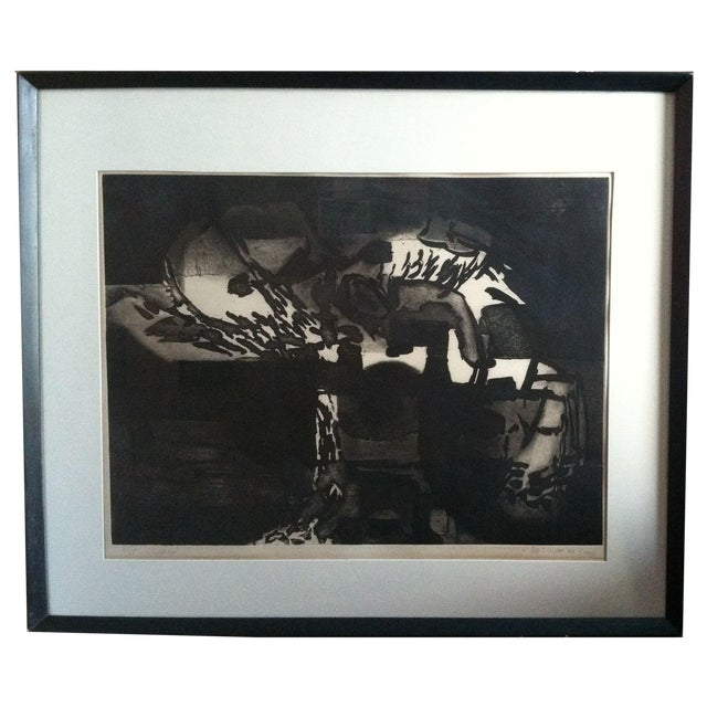 1960s Modernist Abstract Print - Image 1 of 7