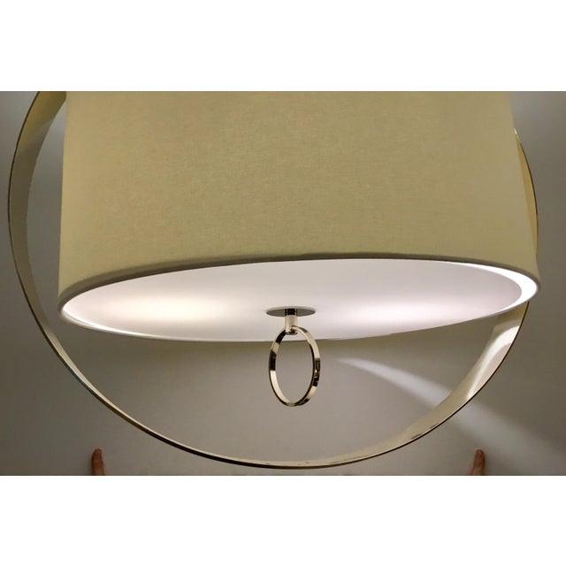 Regina Andrew Modern Large Drum Shade Polished Nickel Derby Chandelier For Sale - Image 4 of 6