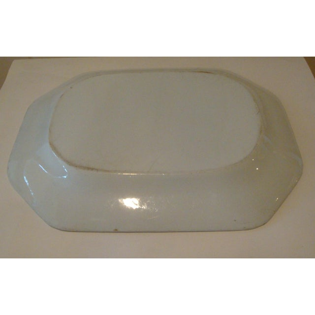 Antique English Ironstone Serving Platter For Sale - Image 4 of 4