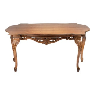 Flip-Top Mahogany Console For Sale