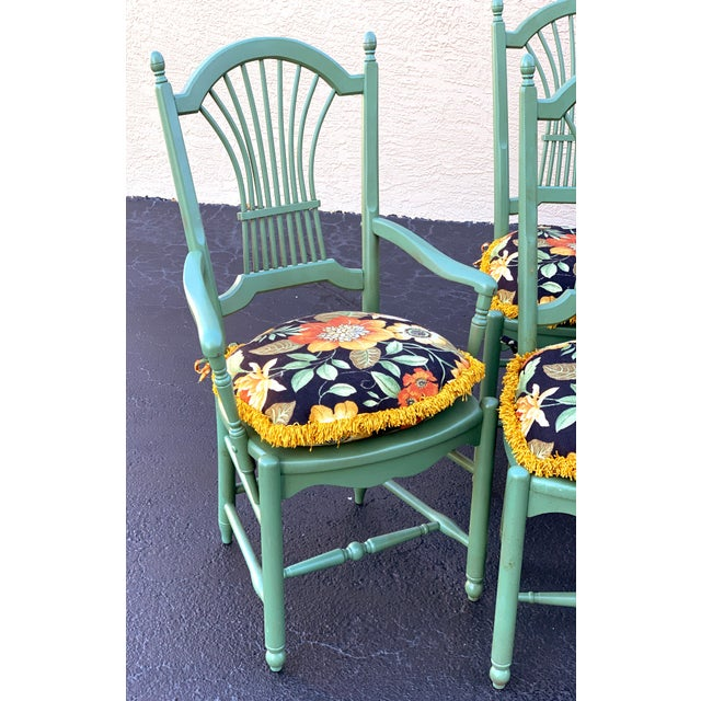French Country 1990s Vintage Nichols & Stone French Country Dinning Chairs- Set of 8 For Sale - Image 3 of 12