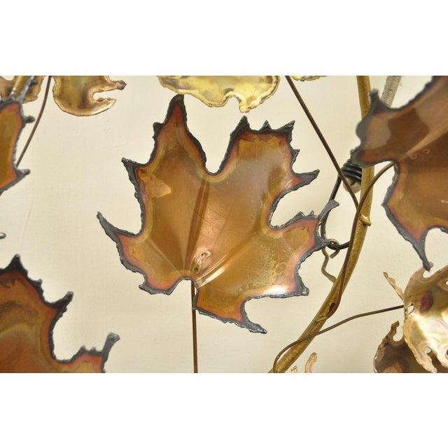 Metal Vintage Mid Century Modern Curtis Jere Maple Leaf Wall Sculpture Brutalist A For Sale - Image 7 of 11