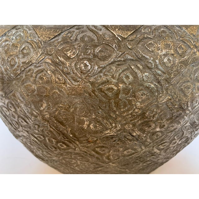 Embossed Metal Round Table Lamp For Sale In Philadelphia - Image 6 of 13
