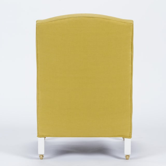 Casa Cosima Casa Cosima Sintra Chair in Citron Linen For Sale - Image 4 of 9