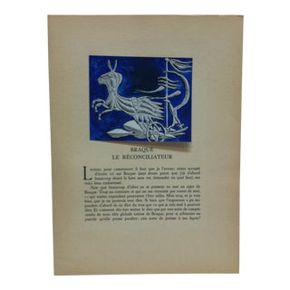 """Mounted Color Print,""""Yo"""" by Georges Braque For Sale"""