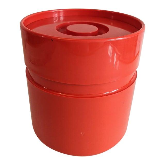 Vintage Orange Heller Ice Bucket by Sergio Asti For Sale
