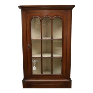 Antique Federal Style Single Door Mahogany Corner Cupboard For Sale