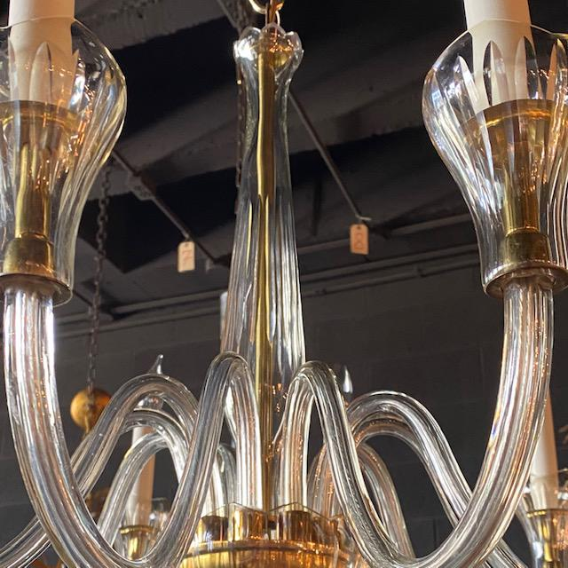 Mid 20th Century Mid 20th Century Czech Chandelier With Tulip Cups For Sale - Image 5 of 7