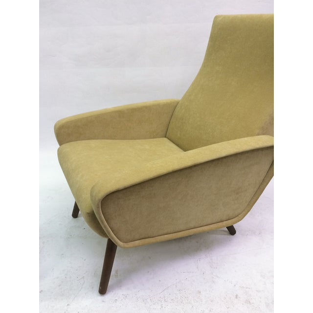 Mid-Century Italian 1950s Recliner With Ottoman - Image 4 of 6