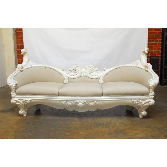 18th Century French Rococo Painted Sofa