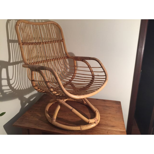 Mid-Century Rattan Chair - Image 10 of 11
