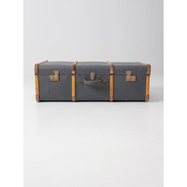 Vintage Steamer Trunk Suitcase For Sale - Image 10 of 10