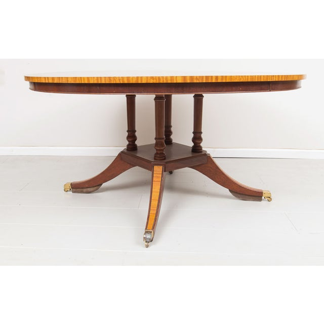 English Victorian Rosewood Dining Table - Image 4 of 5