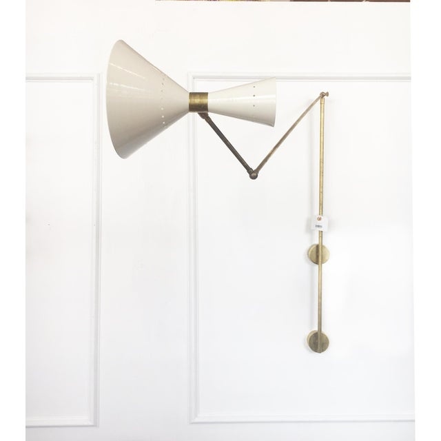Italian Vintage Stilnovo Italian Mid-Century Articulating Sconce For Sale - Image 3 of 3