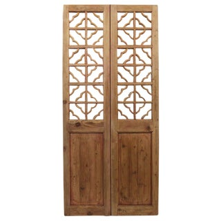 Vintage Screen Doors With Mirror - A Pair