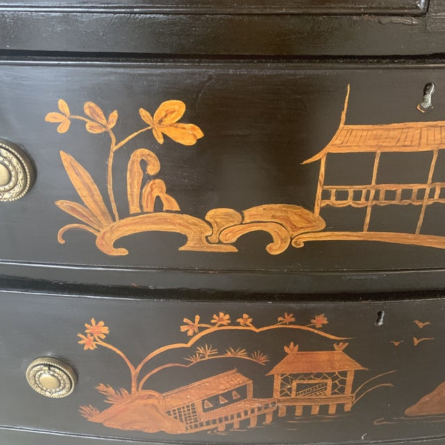 Asian 1800s Chinoiserie Bowfront Chest For Sale - Image 3 of 13