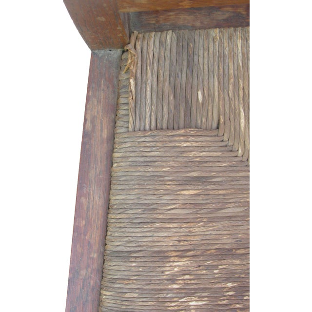 Brown English Arts & Crafts Rush Seat Arm Chair For Sale - Image 8 of 9