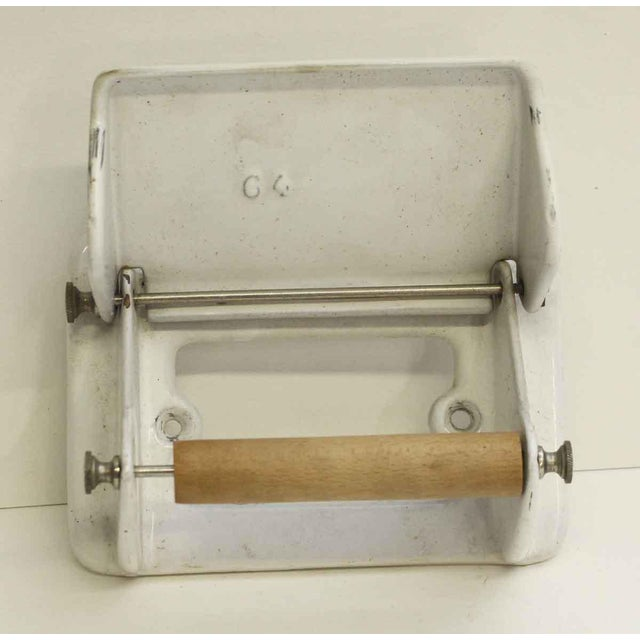 Vintage White Toilet Paper Holder For Sale - Image 4 of 7