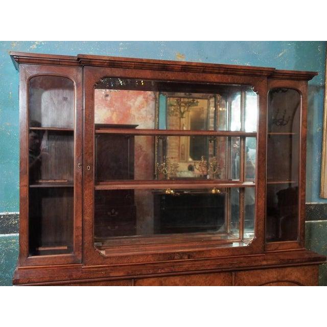 "Art Deco English Burl Walnut ""Cocktails"" Bar Cabinet-1920's For Sale - Image 3 of 9"