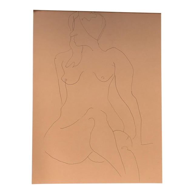 Nude Line Drawing For Sale