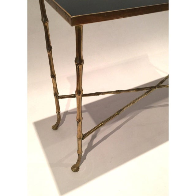 Maison Baguès Hollywood Regency Gilt Bamboo Tables - a Pair For Sale - Image 4 of 6