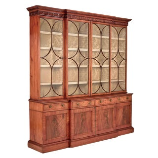 19th c. English Faded Mahogany Breakfront