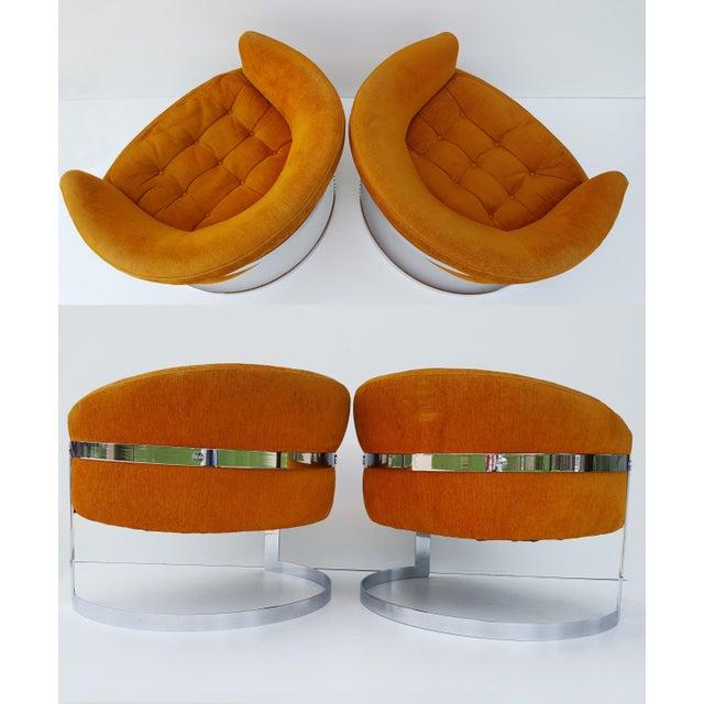 1960s Vintage Milo Baughman Barrel Back Chairs - A Pair For Sale In Saint Louis - Image 6 of 8