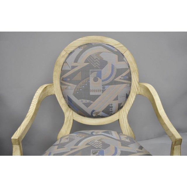 Donghia Late 20th Century Vintage John Hutton for Donghia Style Round Back Lounge Chairs- A Pair For Sale - Image 4 of 11