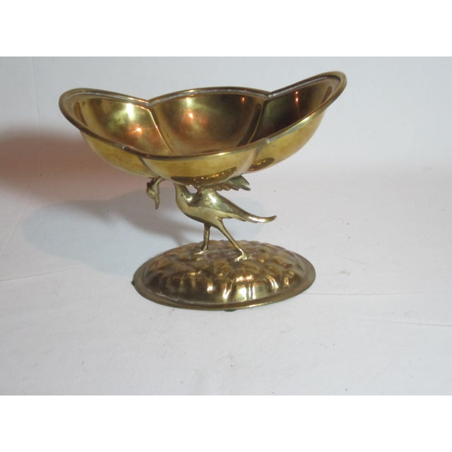 Solid Brass Bird Compote - Image 2 of 6