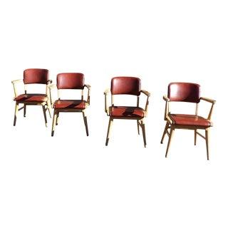 Mid Century Modern w.h. Gunlocke Dining Chairs- Set of 4 For Sale