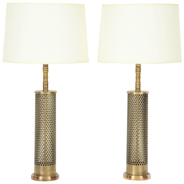 Mid-Century Modern Pair of Studio Bronze Lamps For Sale - Image 3 of 3