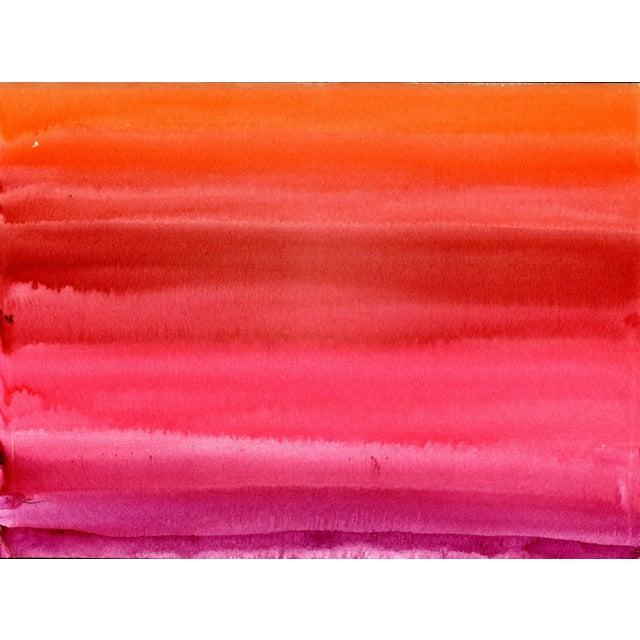 Pink Red Orange Original Watercolor Artwork For Sale