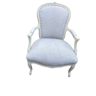 1930s Vintage French Bergere Chair For Sale