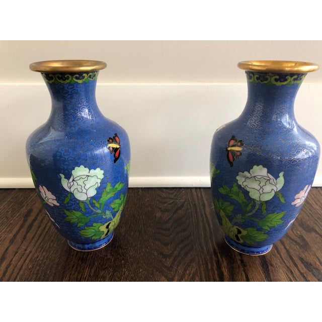 Antique Pair Of Chinese Cloisonne Vases Chairish