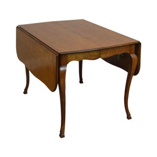 Kindel French Country Style Vintage Cherry Drop Leaf Dining Table For Sale