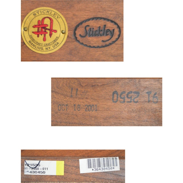 Brown Stickley Solid Cherry Corner Desk w/ Bookcase Top For Sale - Image 8 of 10