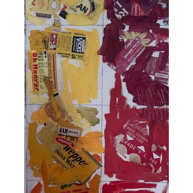 Mid Century Painting, Collage - Labels For Sale - Image 9 of 10