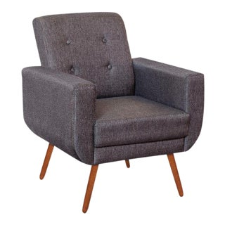 Modern Athena Woven Gray Armchair For Sale