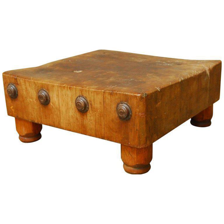 Michigan Maple Wood Welded Table Top Butcher Block