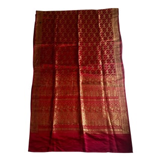 Vintage Silk Sari Throw For Sale