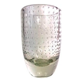 Scandinavian Controlled Bubble Glass Vase For Sale
