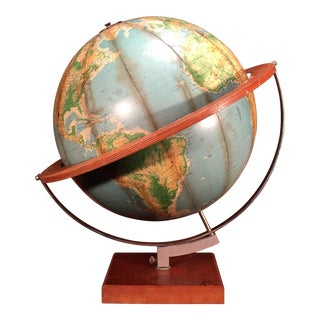 Vintage Mid-Century Denoyer-Geppert Satellite Orbit Globe For Sale